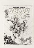 Original Comic Art:Covers, Joe Simon BullsEye #2 Cover Re-Creation Original Art(undated)....