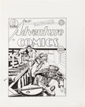 Original Comic Art:Covers, Joe Simon Adventure Comics #87 Sandman CoverRe-Interpretation Original Art (undated)....