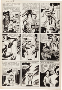 Jack Kirby and Joe Simon Adventures of the Fly #1 Story Page 8 Original Art (Archie, 1959)