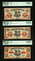 Canadian Currency: , Clifton, PE- The Bank of Clifton $1; $2; $5 Sep. 1, 1861 Ch. #125-12-06; 12; 18. ... (Total: 3 notes)