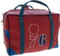 Basketball Collectibles:Others, 1974-75 Don Smith Game Used Philadelphia 76ers Equipment Bag....