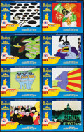 "Movie Posters:Animation, Yellow Submarine (United Artists, R-1999). Lobby Card Set of 8 (11""X 14""). Animation.. ... (Total: 8 Items)"