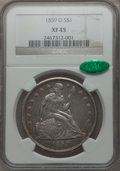 Seated Dollars: , 1859-O $1 XF45 NGC. CAC. NGC Census: (27/451). PCGS Population(71/606). Mintage: 360,000. Numismedia Wsl. Price for proble...