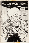 Original Comic Art:Splash Pages, Win Mortimer and Mike Esposito Spidey Super Stories #23Puppet Master and the Thing Splash Page 21 Original Art (M...