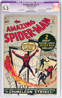 The Amazing Spider-Man #1 (Marvel, 1963) CGC Apparent FN- 5.5 Off-white pages