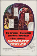 """Movie Posters:Drama, Separate Tables (United Artists, 1958). One Sheet (27"""" X 41""""), and Lobby Card Set of 8 (11"""" X 14""""). Drama.. ... (Total: 9 Items)"""