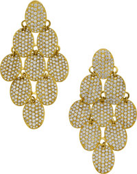 Ippolita Diamond, Gold Earrings