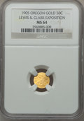 Expositions and Fairs, 1905 Lewis & Clark Exposition, 1/2 Oregon Gold MS64 NGC....