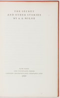 Books:Signed Editions, A. A. Milne. SIGNED. The Secret and Other Stories. New York:The Fountain Press, 1929. First edition, first printing...