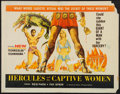"Movie Posters:Action, Hercules and the Captive Women and Other Lot (Woolner Brothers,1963). Half Sheet (22"" X 28""), Lobby Card Set of 8 (11"" X 14...(Total: 29 Items)"