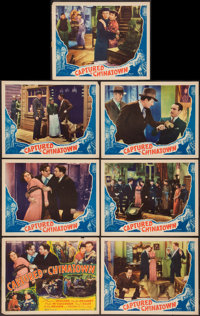 """Captured in Chinatown (Stage and Screen Productions, 1935). Title Lobby Card & Lobby Cards (6) (11"""" X 14&qu..."""