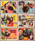"Movie Posters:Academy Award Winners, Gone with the Wind (MGM, R-1954). Title Lobby Card & Lobby Cards (5) (11"" X 14""). Academy Award Winners.. ... (Total: 6 Items)"