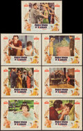 """Movie Posters:Romance, Paris When It Sizzles (Paramount, 1964). Lobby Cards (7) (11"""" X 14""""). Romance.. ... (Total: 7 Items)"""