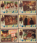"Movie Posters:War, U-Boat 29 (Columbia, 1939). Title Lobby Card & Lobby Cards (5)(11"" X 14""). War.. ... (Total: 6 Items)"
