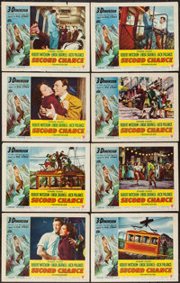 "Second Chance (RKO, 1953 & R-1957). Lobby Card Set of 8, Lobby Cards (14) (11"" X 14"") 3-D & Regular, &..."