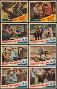 """Beneath Western Skies and Other Lot (Republic, 1944). Lobby Cards (8) (11"""" X 14""""). Western. ... (Total: 8 Item..."""