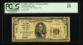 National Bank Notes:Washington, Cheney, WA - $5 1929 Ty. 1 The Security NB Ch. # 9144. ...