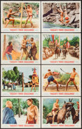 "Movie Posters:Adventure, Tarzan's Three Challenges (MGM, 1963). Lobby Card Set of 8 (11"" X14""). Adventure.. ... (Total: 8 Items)"