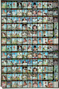 Baseball Cards:Sets, 1971 Topps Baseball First Series Full Uncut Sheet - Sheet A. ...