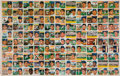 Baseball Cards:Sets, Spectacular 1956 Topps Baseball Full Uncut Sheet...