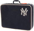 Baseball Collectibles:Others, 1950's Eddie Robinson New York Yankees Team Luggage....