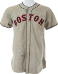 Baseball Collectibles:Uniforms, 1937 Wes Ferrell & Bobo Newsom Game Worn Boston Red SoxJersey....