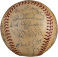 Baseball Collectibles:Balls, 1937 New York Yankees & Giants Multi Signed Baseball With Ott & Gehrig. ...