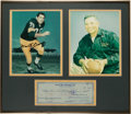 """Football Collectibles:Others, 1959 Vince Lombardi and """"Alvis"""" Forrest Gregg Signed Check Display...."""