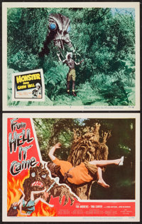 """From Hell It Came & Other Lot (Allied Artists, 1957). Lobby Cards (2) (11"""" X 14""""). Horror. ... (Total: 2 I..."""