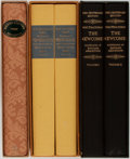 Books:Fine Bindings & Library Sets, [Thackeray]. William M. Thackeray. Group of Five. Limited Editions, v.d. Includes History of Pendennis, The Newcombes, a... (Total: 5 Items)