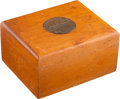 Golf Collectibles:Autographs, 1951 Masters Tournament Humidor Presented to Bobby Jones....