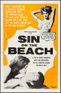 "Movie Posters:Sexploitation, Sin on the Beach (American Film Distributing, 1964). One Sheet (27"" X 41"") & Lobby Cards (3) (11"" X 14""). Sexploitation.. ... (Total: 4 Items)"