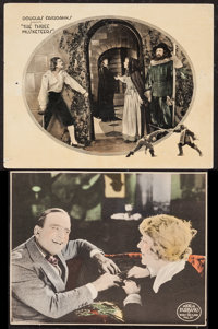 """The Three Musketeers & Other Lot (United Artists, 1921). Lobby Card (11"""" X 14"""") & Trimmed Lobb..."""