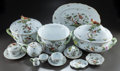 Paintings, A FOURTEEN PIECE HEREND PORCELAIN ROTHSCHILD BIRD PATTERN PARTIAL DINNER SERVICE. 20th century. Marks: HEREND,... (Total: 14 Items)