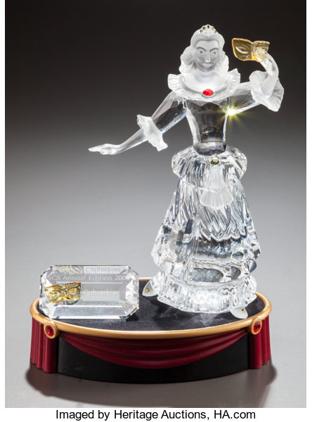 4b4d06349 ... A SWAROVSKI CRYSTAL MASQUERADE FIGURINE OF COLUMBINE INORIGINAL BOX.  Designed by Gabriele Stamey, ...
