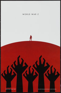 "World War Z (Paramount, 2013). Cinemark Exclusive Poster (11"" X 17""). Horror"