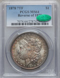 Morgan Dollars: , 1878 7TF $1 Reverse of 1878 MS64 PCGS. CAC. PCGS Population(2534/512). NGC Census: (3491/501). Mintage: 4,900,000. Numisme...