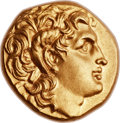 Ancients:Greek, Ancients: THRACIAN KINGDOM. Lysimachus (323-281 BC). AV stater(17mm, 8.59 gm, 12h)....