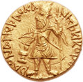 Ancients:Oriental, Ancients: INDIA. Kushan Empire. Kanishka I (ca. AD 127-152). AV dinar (20mm, 7.99 gm, 12h). ...