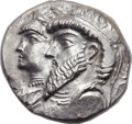 Ancients:Greek, Ancients: KINGDOM OF ELYMAIS. Kamnaskires III and Anzaze (ca. 82-74 BC). AR tetradrachm (27mm, 16.17 gm, 12h)....