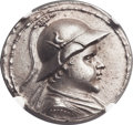 Ancients:Greek, Ancients: GRECO-BACTRIAN KINGDOM. Eucratides I the Great (ca.170-145 BC). AR tetradrachm (34mm, 16.96 gm, 11h)....