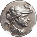 Ancients:Greek, Ancients: GRECO-BACTRIAN KINGDOM. Demetrius I (ca. 200-185BC). AR tetradrachm (32mm, 16.63 gm, 11h). ...