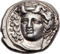 Ancients:Greek, Ancients: THESSALY. Larissa. Ca. 380-360 BC. AR drachm (20mm, 5.89gm, 6h). ...