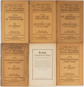 Books:Photography, [Photography]. F. C. Tilney. Tracts: for Pictorial Photographers. London: Greenwood, [n.d., ca. 1920's]. Six octavo ...