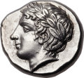 Ancients:Greek, Ancients: MACEDON. Chalcidian League. Ca. 430-348 BC. AR tetradrachm (26mm, 14.48 gm, 2h). ...