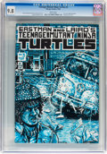 Modern Age (1980-Present):Superhero, Teenage Mutant Ninja Turtles #3 (Mirage Studios, 1985) CGC NM/MT9.8 White pages....