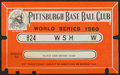 Baseball Collectibles:Tickets, 1960 World Series Pass....
