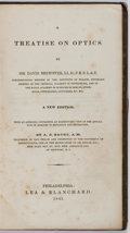 Books:Photography, Sir David Brewster. A Treatise on Optics. Philadelphia: Lea & Blanchard, 1841. New Edition. Octavo. Publisher's bind...