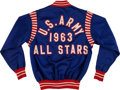 Basketball Collectibles:Uniforms, 1963 United States Army Basketball Warm Up Jacket....