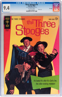 Three Stooges #14 File Copy (Gold Key, 1963) CGC NM 9.4 Off-white pages